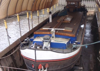 Dutch Barge in MSO Dry Dock