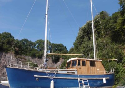 1979 Colvic Watson 34 survey at Dartside Quay Devon in August 2019