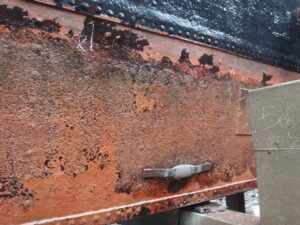 Wasted Zinc Anode on Dutch Lighter Barge