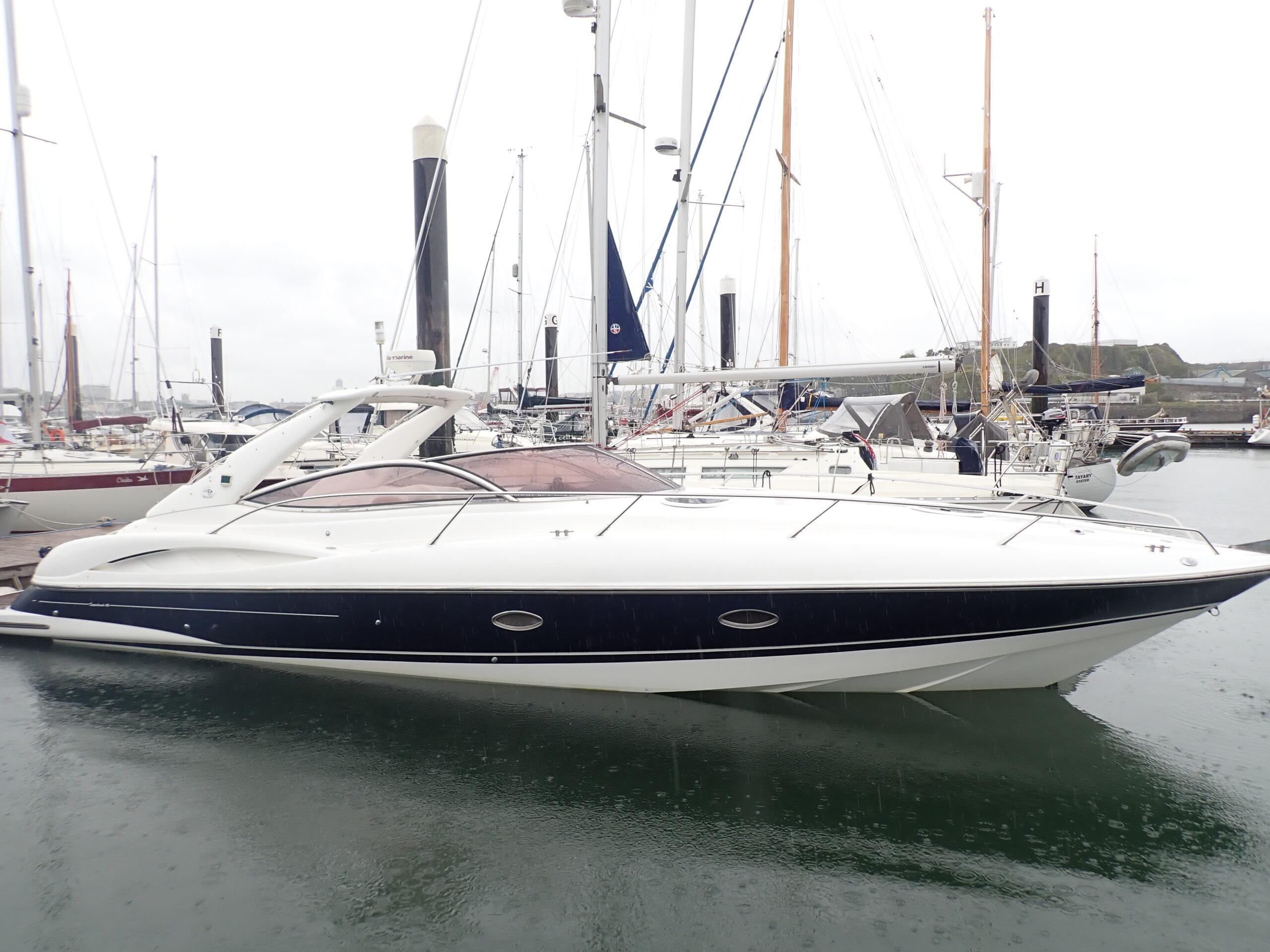 Survey of Calypso - A 2004 Sunseeker Super Hawk 40 at Plymouth Yacht Haven in Devon